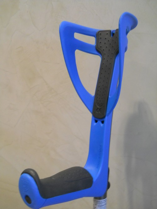 Canne anglaise Ergo Opti Confort bleue