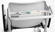Fauteuil de pesee electronique vue de l indicateur de poids
