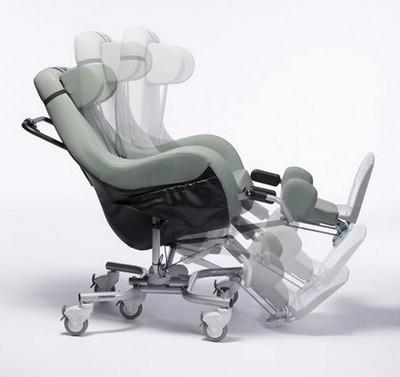 Inclinaison du fauteuil coquille Coraille