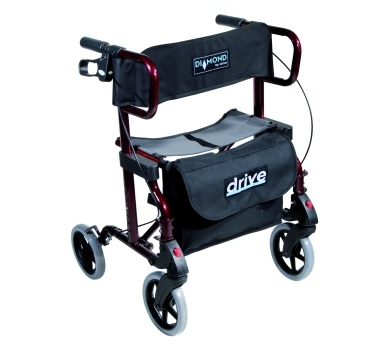 Rollator 2 en 1 fauteuil de transport