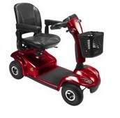 Invacare Leo rouge scooter electrique