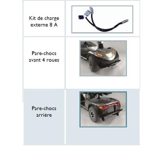 Accessoires Scooter electrique Invacare Comet 4 roues