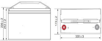 Dimensions Batterie Gel 12 V 100 A