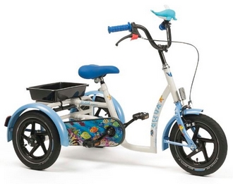 tricycle pour enfant d s 3 ans vermeiren mod le 2202 aqua et safari. Black Bedroom Furniture Sets. Home Design Ideas