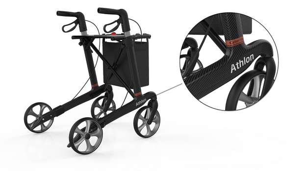 rollator carbone athlon focus fibre carbone