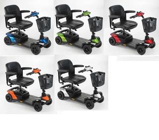 Scooter electrique Invacare 4 roues Colibri couleurs