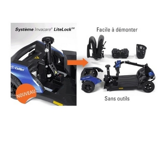 Scooter Colibri systeme de demontage