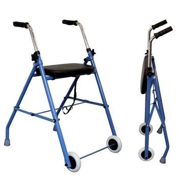 Rollator 2 roues en acier avec assise